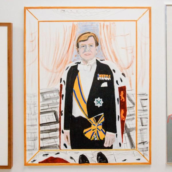 Emo Verkerk - Staatsieportret ten voeten uit - 100x80cm Olieverf op linnen, 2013