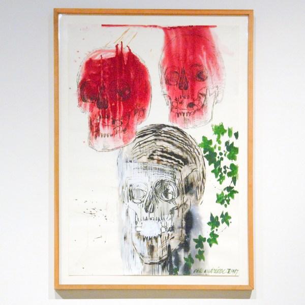 Erik Andriesse - Schedels en Klimop - Acrylverf op papier, 1987
