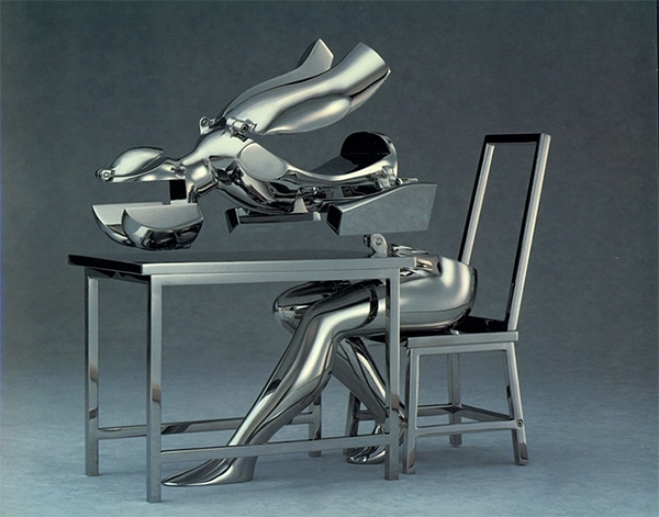 Ernest Trova - II - 15x16x10inch roestvrij staal 1988