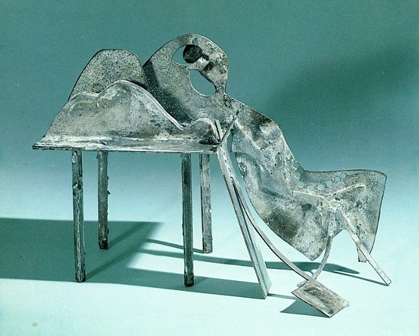 Ernest Trova - Table Figure #2 - Gegalvineerd staal 1979