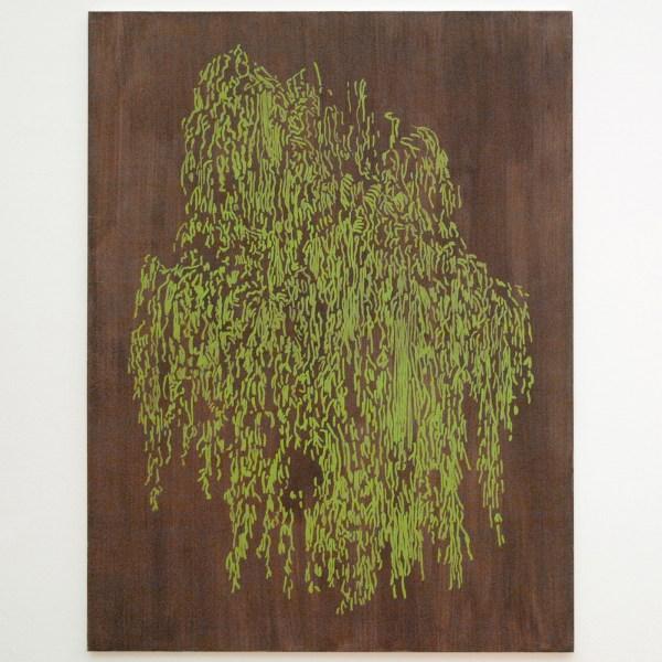 Evi Vingerling - Zonder Titel - 210x160cm Gouache op doek