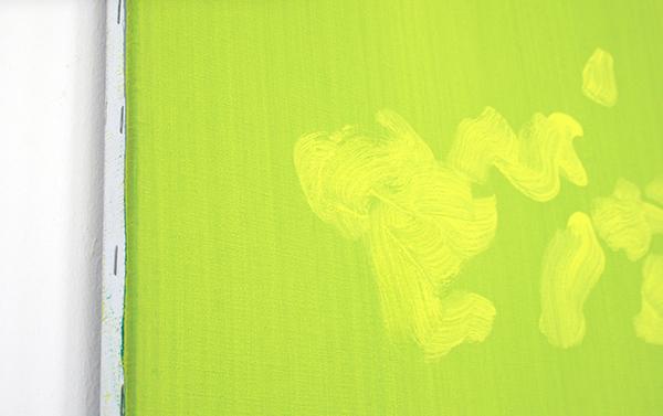 Evi Vingerling - Zonder Titel - Gouache en acrylverf op doek   (detail)
