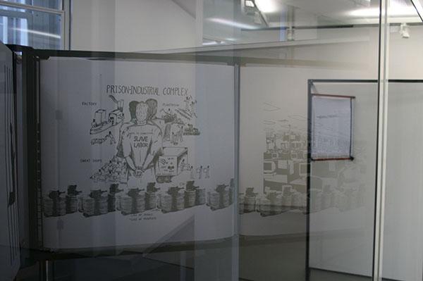 Falke Pisano - Prison Work (From the Serie The Body in Crisis) - Installatie (detail)