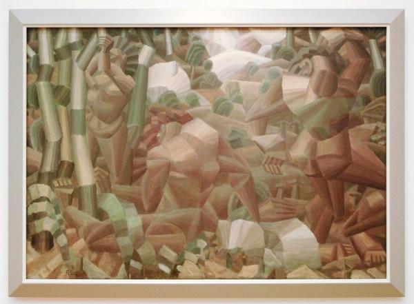 Fernand Leger - Nus Dans La Foret (Naaktfiguren in het Bos) - Olieverf op doek 1909-1911