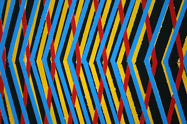 Florian Quistrebert, Michael Quistrebert - GOD 2 - 201x241cm Acrylverf en gesso op canvas met houten frame (detail)