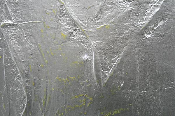 Florian Quistrebert, Michael Quistrebert - Overlight 3 - 170x200cm Aluminium pigmenten en verschillende soorten verf op canvas met LED en batterijen (detail)