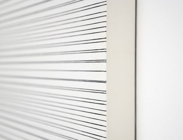 Francois Morellet - 2 Trames inegales avec 10 interferences - Olieverf op hout, 1973 (detail)