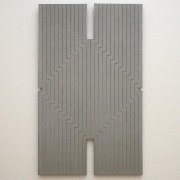 Frank Stella - Newstead Abbey - Olieverf en aluminiumverf op katoen
