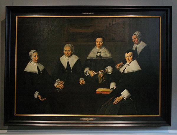 Frans Hals - Regentessen van het Oudemannenhuis - Olieverf op doek 1664