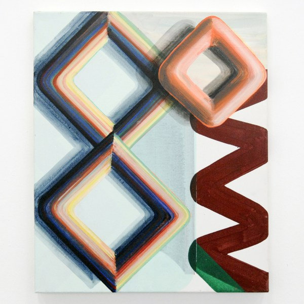 Gabrielle van de Laak - 3D Rhythm - 60x50cm Acrylverf en pigment op katoen