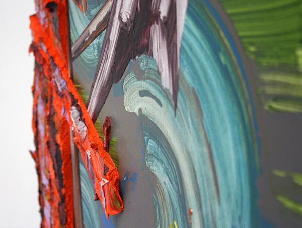 Ge-Karel van der Sterren - Staketse met vogel - 50x60cm (detail)