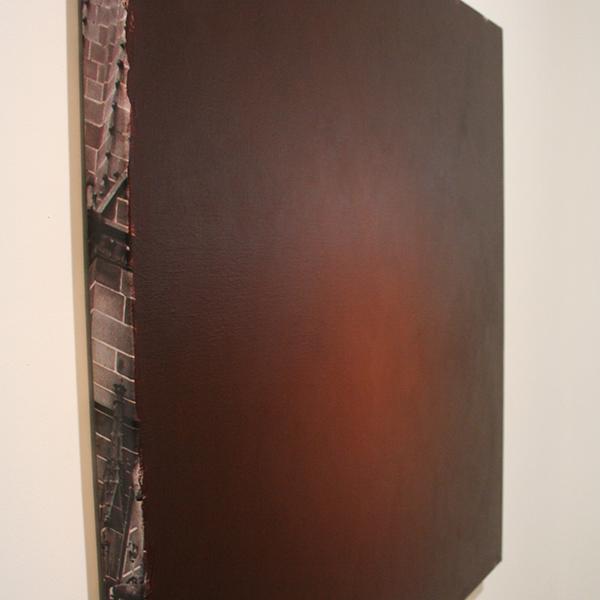 Ger van Elk - Conclusions I - Clermont-F 'Black Landscape' - 96x102x5cm Acrylverf op foto op canvas (detail)