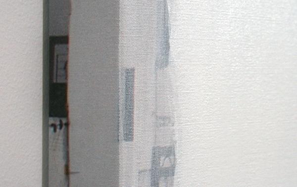 Ger van Elk - Conclusions II - Vejer de la Frontera 'Blue' - 123x126x6cm Acrylverf op foto op canvas (detail)