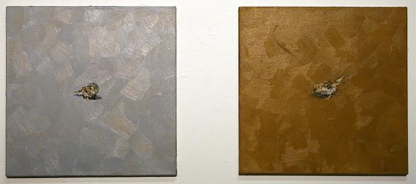 Gerard Prent - Zonder Titel (mus) - 55x55cm Olieverf op doek