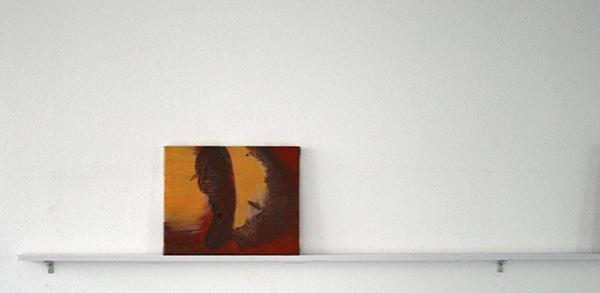 Giel Louws - Back 3 - 24x30cm Acrylvef op canvas, 2012