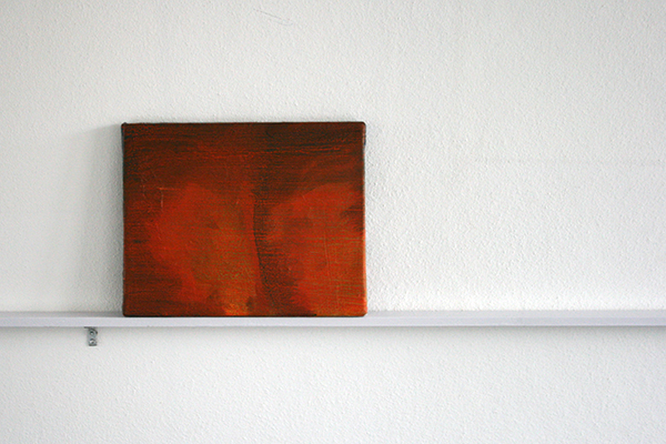 Giel Louws - Back 4 - 30x24cm Acrylverf op canvas, 2012