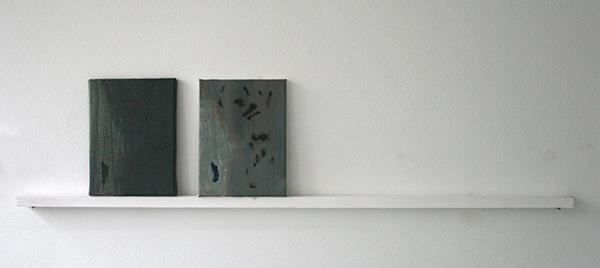 Giel Louws - Dots 3 & Dots 4 - 24x18cm Acrylverf op canvas, 2012