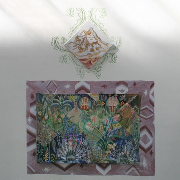 Gijs Frieling - De Prijs van het Geluk - Caseine en pigmenten op muur en linnen