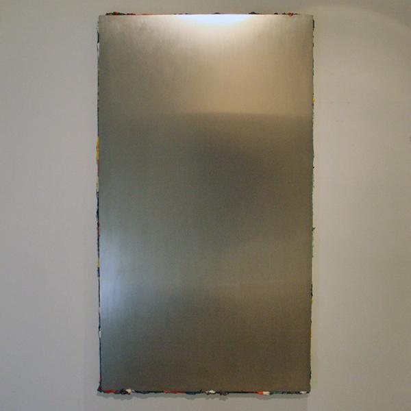 Gijs van LIth - Zonder Titel - 180x100cm Aluminium op canvas (en olieverf aan de randen)
