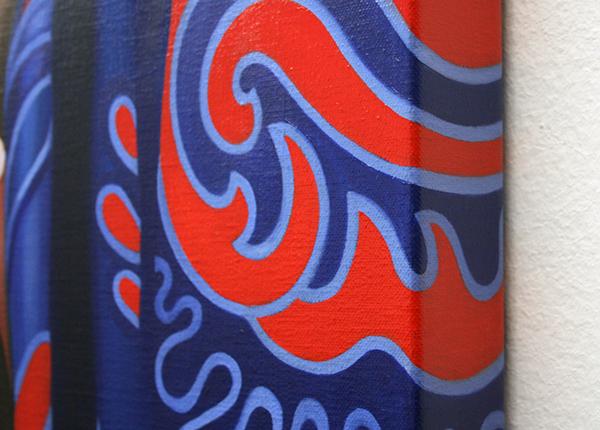 Gonul Albayrak - Greta - 100x80cm Olieverf op linnen (detail)