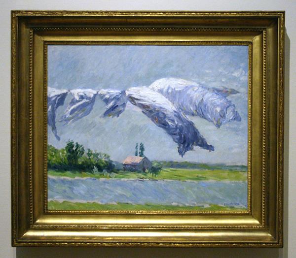 Gustave Caillebotte - Linge Sechant, Petit Gennevilliers - Olieverf op doek 1888