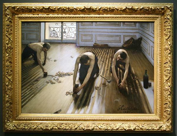 Gustave Caillebotte - Raboteurs de Parquet - Olieverf op doek 1875