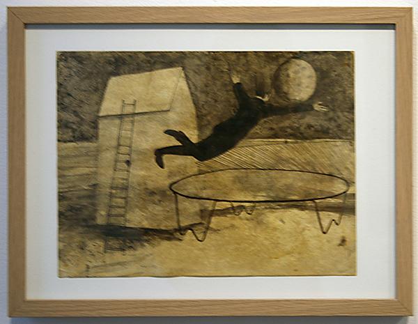 Hans Lemmen - Untitled - 24x31cm Gewassen inkt op geprepareerd papier