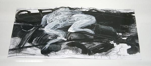 Hans de Wit - Studie - Potlood, inkt en waterverf op papier
