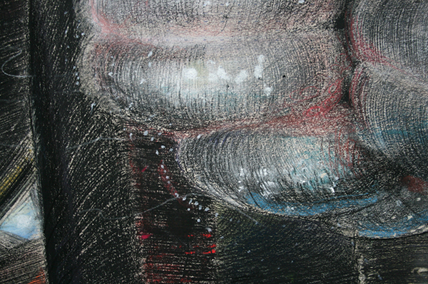 Hans de Wit - The Vehicle - Pastel en houtskool op Canson Mi-Teintes papier (detail)