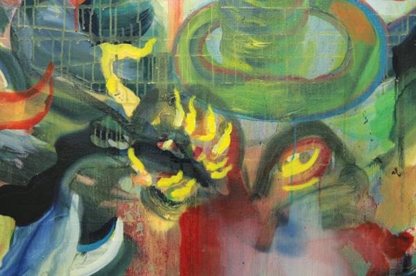 Heddy-John Appeldoorn - De Geest uit de Pot - 170x240cm Olieverf op doek (detail)