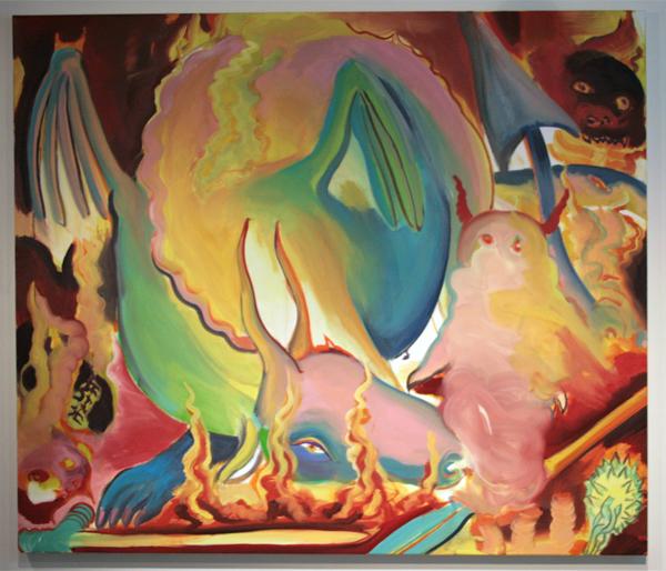 Heddy-John Appeldoorn - Vlam - 120x140cm Olieverf op doek