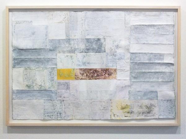 Henri Plaat - De verweerde muur - 88x128cm Collage en gouche