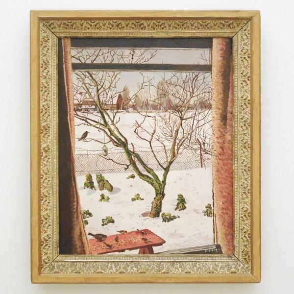 Herman Bieling - Voor het venster - 64x51cm Olieverf op doek, verworven in 1942