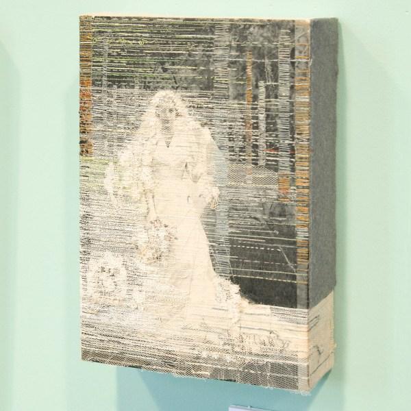 Hinke Schreuders - Works op paper #37 - Garen op papier op linnen €1650,-