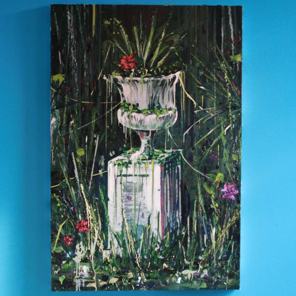 Hugo Tieleman - Road Block - 40x50cm Olieverf op canvas