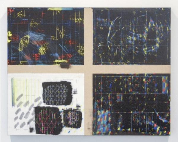 Isa Newby Gagarin - Betelgeuse (One Eye Closed) - 56x71x4cm Wascokrijt en acrylverf op paneel
