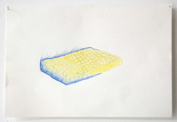 Isabel Cavenecia - Flaming Matress - 21x14cm Potlood op papier