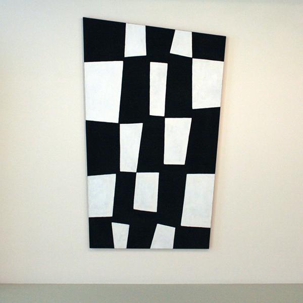 JCJ Vanderheyden - Large Checkerboard - Polyvinylverf en tempera op doek