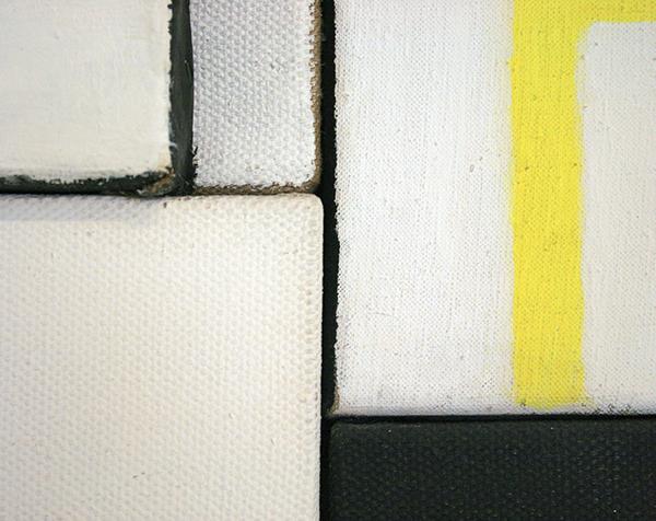 JCJ Vanderheyden - Naast elkaar tegelijkertijd - Olieverf en potlood op linnen (detail)