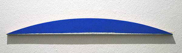 JCJ Vanderheyden - Zonder Titel (Boog, Horizon) - 10x97x3cm Acrylverf op doek op hout