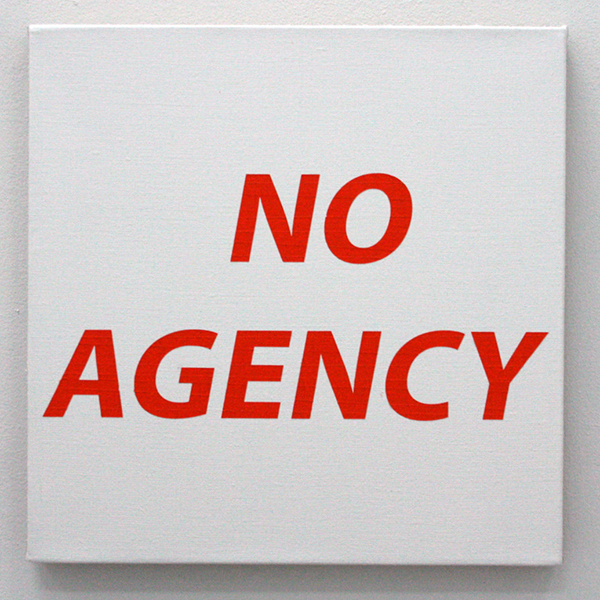 Jack Segbars - No Agency - 51x51cm Acrylverf op canvas