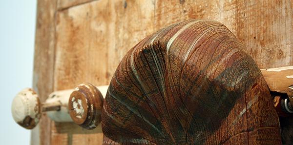 Jack Vanarsky - Casquette qui songe - Kinetisch object en hout (detail)