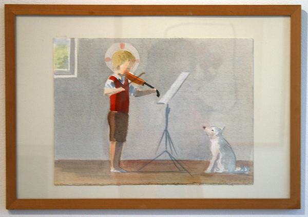 Jan Knap - Untitled - 28x38cm Aquarelverf op papier