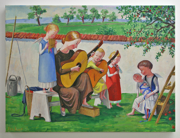 Jan Knap - Untitled - 45x60cm Olieverf op canvas