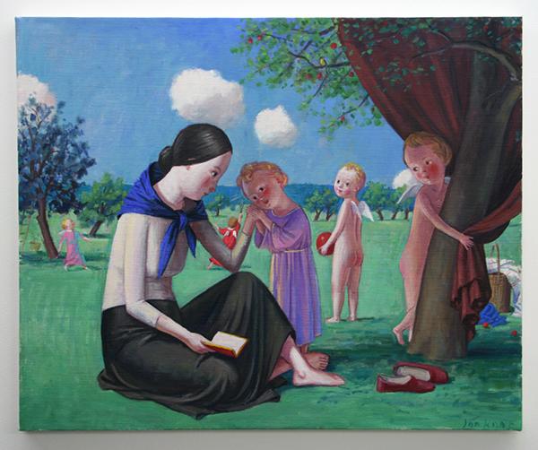 Jan Knap - Untitled - 55x67cm Olieverf op canvas