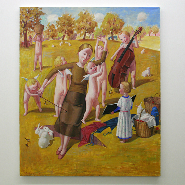 Jan Knap - Untitled - 75x90cm Olieverf op canvas