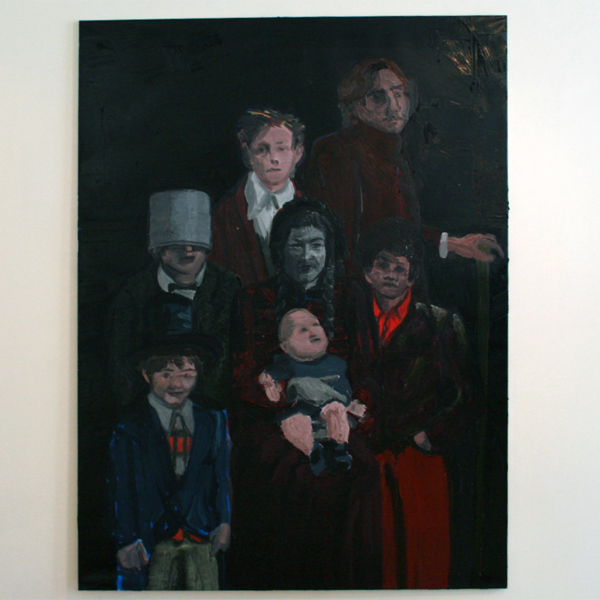 Jan Wattjes - My Artistc Family (Statue of mother) - 200x150cm Olieverf op doek