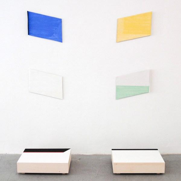 Jan ten Have - Zwart Licht vs Wit Licht - Vierluik, 32x49cm Porelein en met olieverfbeschilderde kisten