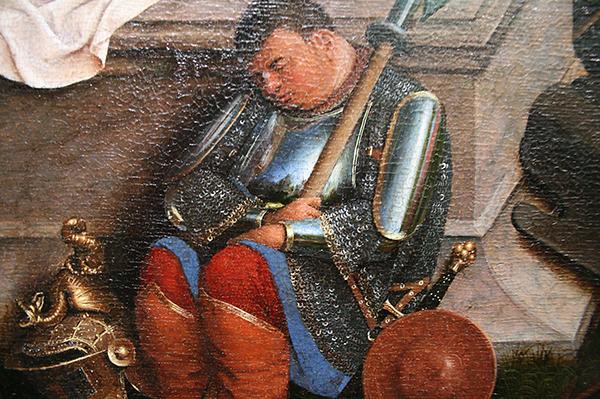 Jan van Eyck (?)- Drie Maria's aan het graf - Paneel (detail)