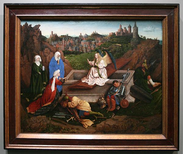 Jan van Eyck (?)- Drie Maria's aan het graf - Paneel